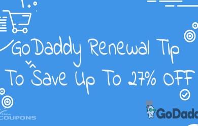 godaddy tip to save 27% renewal