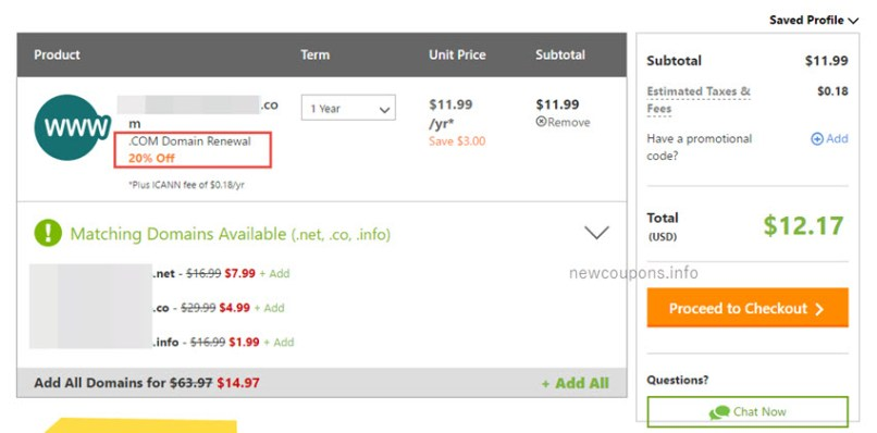 Get 20% Off on Renewals at GoDaddy - Exclusive Trick