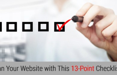 Clean Your Website with This 13-Point Checklist