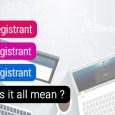 about Domain Registrant, Registrar, Registry