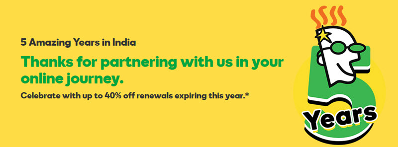 Up to 40% off renewals at GoDaddy for a Limited Time !