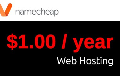 NameCheap Hosting Coupon for just $1 per Year - ENDED