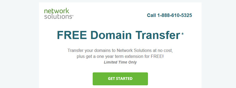 Free Domain Transfer to NetworkSolutions, No Limitation