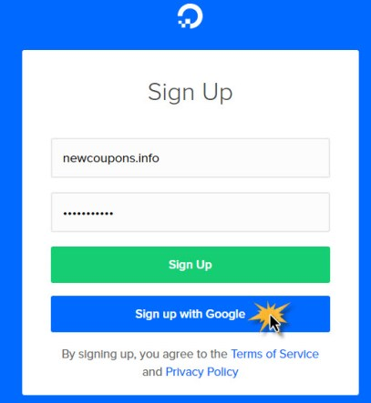 DigitalOcean Has Enabled Sign Up and Sign In with Google Account