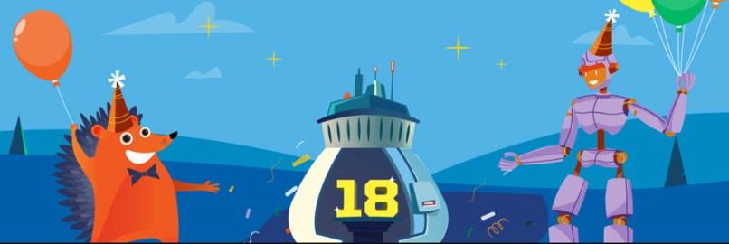 NameCheap 18th Birthday Deals- Save 18% on Renewals, $8.88 .COM Registrations