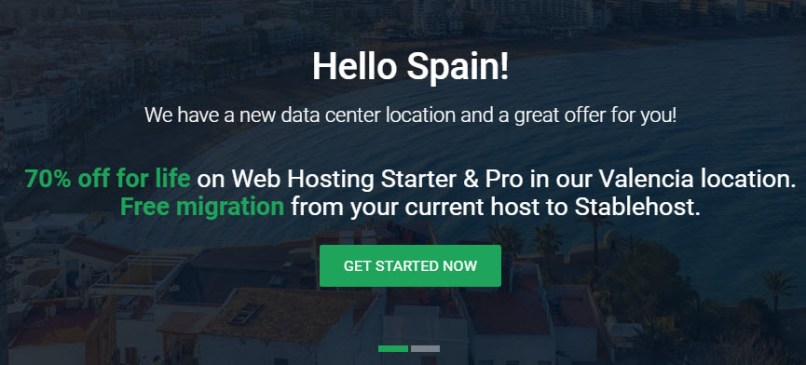 StableHost 70% Off for Life on Web Hosting in Valencia (Spain)