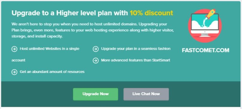Fastcomet Upgrade Coupon For Save 10% Off