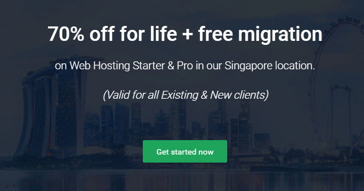 StableHost 70% Off Web Hosting For Existing Customers - Singapore Location - Recurring Discount