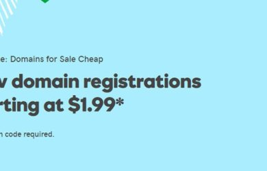 Godaddy New domain registrations starting at $1.99