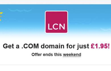 LCN – REGISTER .COM FOR JUST £1.95 ($2.5)