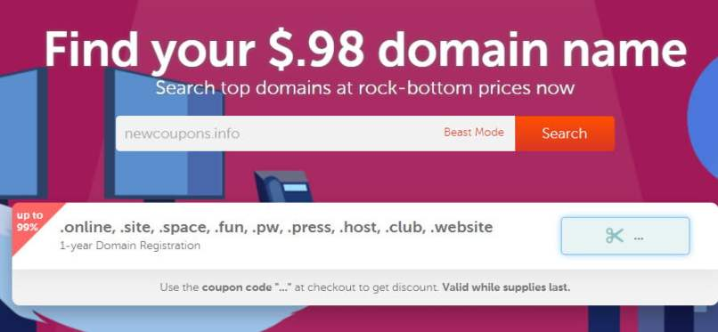 Get Domains For $0.98 From NameCheap - Free Whois Privacy