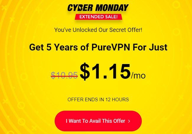 89% OFF PureVPN Premium Discount Code December 2019