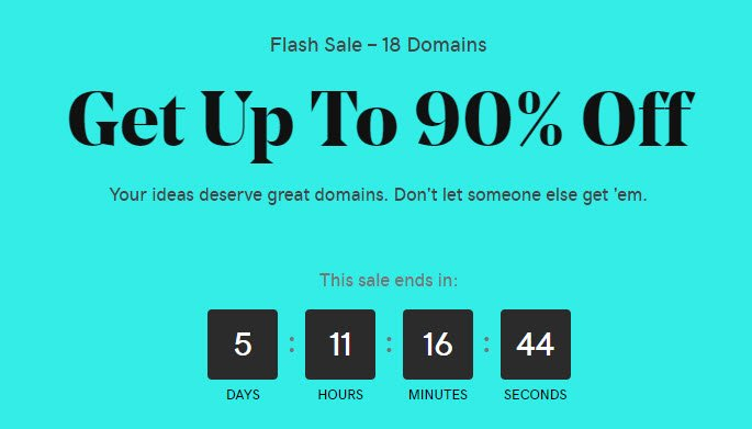 GoDaddy Black Friday Flash Sale - Domains For $0.99