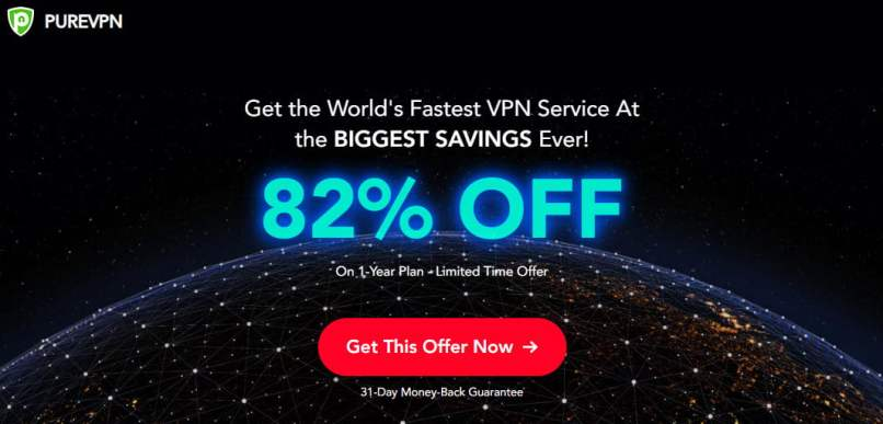 82% OFF | $21 PureVPN 1 Year Special Deal On April 2020
