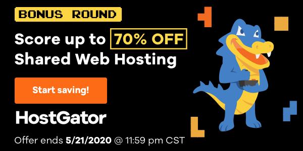 Get 70% OFF Shared Hosting + Free Domain At HostGator