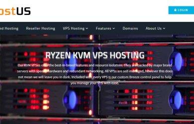 HostUS Ryzen NVMe KVM VPS Offers