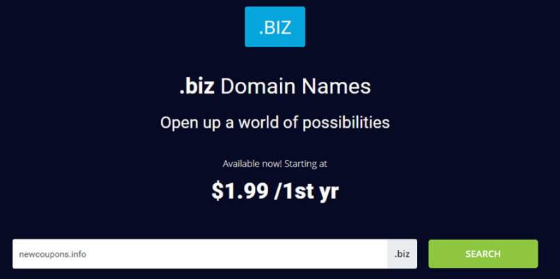 Register .BIZ For $1.99 At Epik - Free Whois Privacy