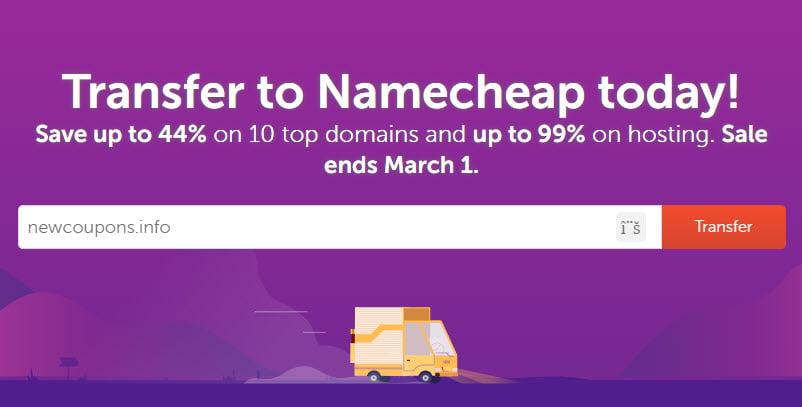 namecheap transfer promo code