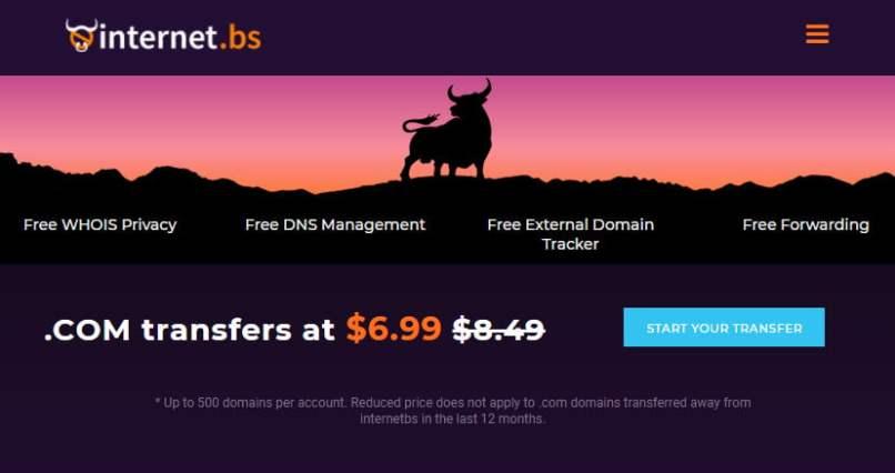 InternetBS - .COM Transfers For $6.99 - Free Privacy