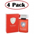 4 Pack of Lamborghini Sportivo by Tonino Lamborghini Eau De Toilette Spray 4.2 oz for $60