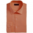 Alfani Men's Bedford Cord Classic/Regular Fit Dress Shirt Orange Size 36-37 for $94
