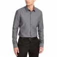 Alfani Men's Classic-Fit Solid Shirt Gray Size Medium for $94