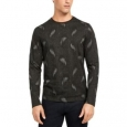 Alfani Men's Paisley Graphic Shirt Black Size Medium for $94