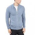 Alfani Men's Textured Zip-Front Cardigan Blue Size Medium for $94