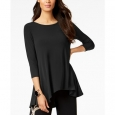 Alfani Women's Petite High-Low Jersey Tunic Top Black Size 59 for $94
