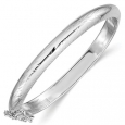 Baby Hinged Bangle in Sterling Silver (5.0mm) for $84