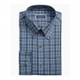 Club Room Men's Classic/Regular Fit Stretch Blackwatch Tartan Dress Shirt Blue Size 34-35 for $34