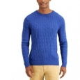 Club Room Men's Cotton Cable Crewneck Sweater Blue Size Large for $94