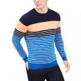 Club Room Men's Striped Crewneck Sweater Blue Size Medium for $94