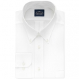 Eagle Men's Classic-Fit Stretch Collar Non-Iron Solid Dress Shirt White Size 34-35 for $94