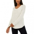 Hippie Rose Juniors' Women's Henley Top White Size Small for $34