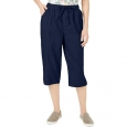 Karen Scott Women's Petite Edna Capri Pants Blue Size 44 for $34