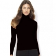 Lauren Ralph Lauren Ribbed Turtleneck Sweater Women's Clothing Black Size Small for $94