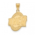NCAA 10k Yellow Gold North Carolina at Greensboro Large Pendant for $312