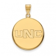 NCAA 10k Yellow Gold Northern Colorado Large Disc Pendant for $510