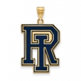 NCAA 14k Gold Plated Silver U. of Rhode Island XL Enamel Pendant for $99