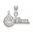 NCAA 14k White Gold The Citadel Small Pendant for $242