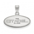 NCAA 14k White Gold The Citadel Small Pendant for $370