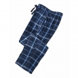Perry Ellis Men's Medium-Plaid Fleece Pants Blue Size Small for $94