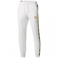 Puma Men's Metallic-Logo Pants White Size X-Large for $94