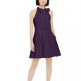 Vince Camuto Women's Bow-Neck Fit & Flare Dress Purple Size 10 for $119