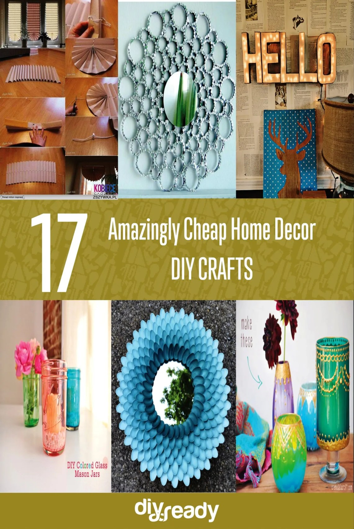 17 Amazingly Cheap Home Decor | DIY Crafts - New Craft Works