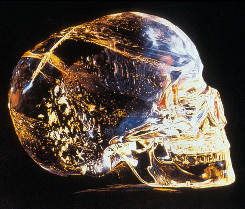In a lost city in a remote jungle, located in what is now Belize, Central America, Anna Mitchell Hedge found this magnificent and perfect crystal skull, buried beneath an altar in the ruins of a great temple-pyramid.