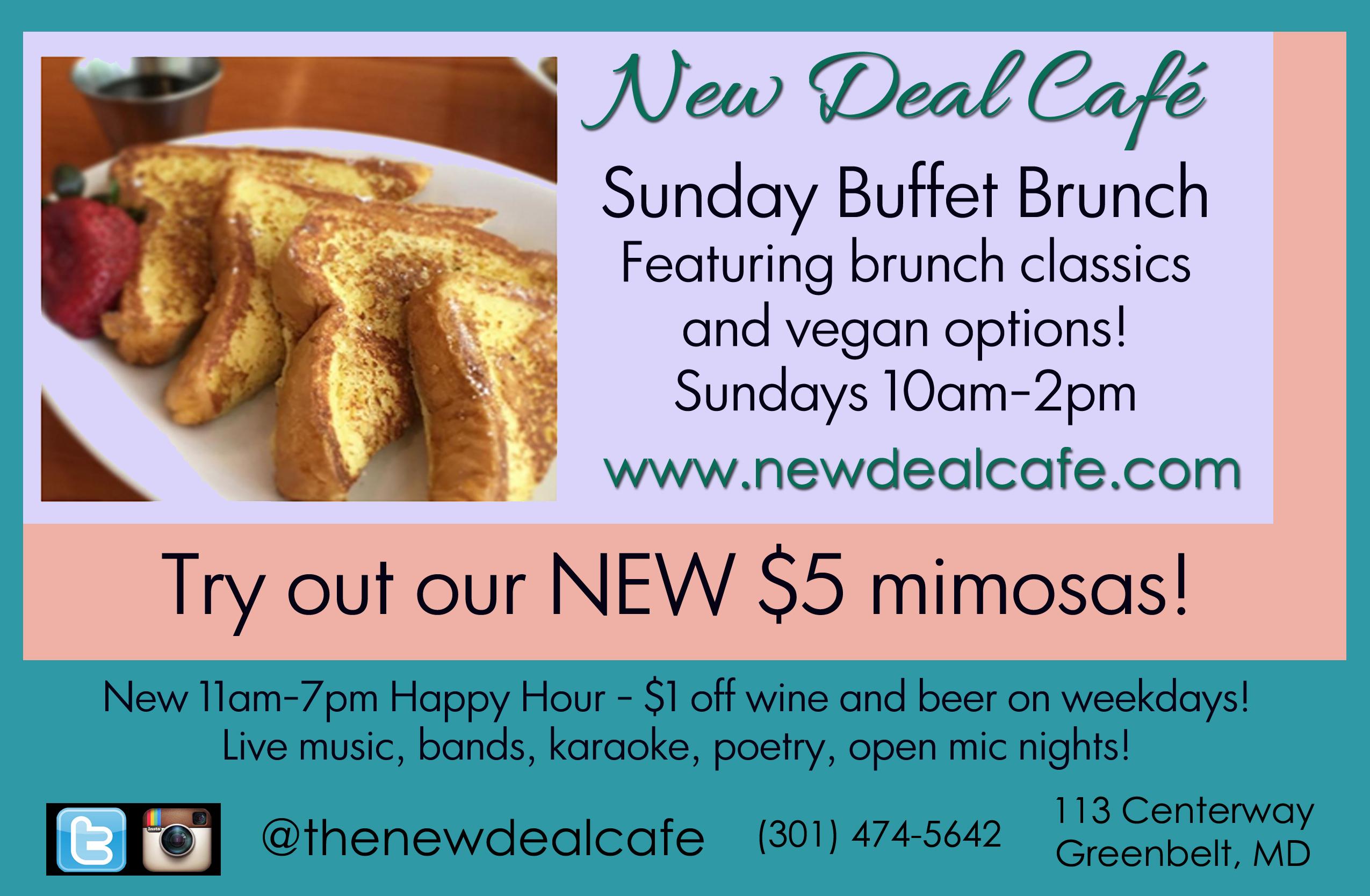 brunch buffet at new deal cafe – new deal cafe