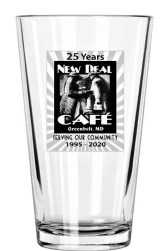 New Deal Cafe 25th anniv. beer glass