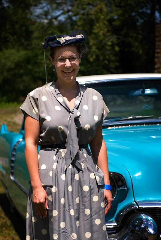 Verena Mullins of Charleston, WV in period dress